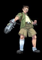 Mutanten Nerd mit Bionical Waffe