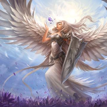 white Angel banner
