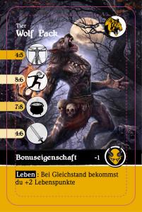 Wolf Pack- Spielkarte