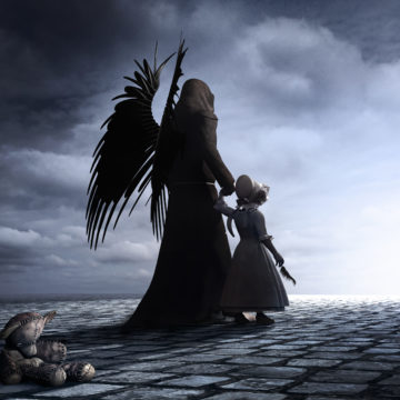 dark angel with girl